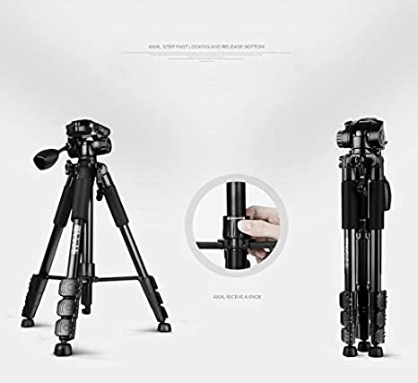 Portable Aluminum Alloy Camera Tripod Vertical Shot 57//146 cm with 3-Way Swivel Pan Head and Carrying Bag for DSLR and Macro Photography,DV Video Camcorder,Red,Red