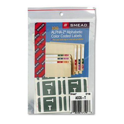 Free SMD67190 - Smead Alpha-Z Color-Coded Second Letter Labels