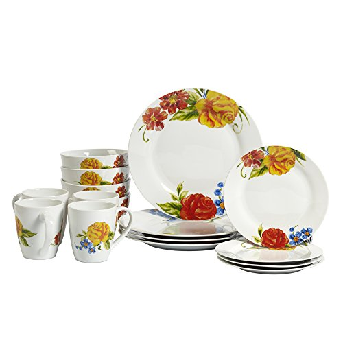 Tabletops Gallery Grace - 16 Piece Round Rim Dinnerware Set, Service of -