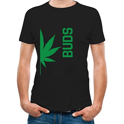 Best Weed Buddies Funny Best Friends Weed Day Gift Cool - Men's T-Shirt Large Black