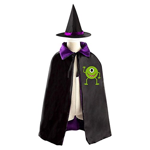 Squishy Squibbles Costume (DBT Monster Mike Childrens' Halloween Costume Wizard Witch Cloak Cape Robe and Hat)