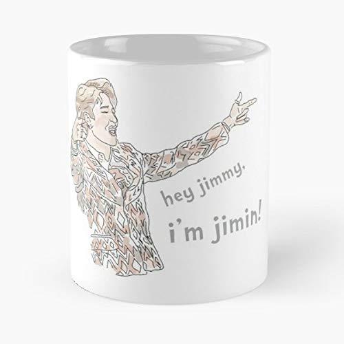 Amazon com: Jimin Kpop Hey Jimmy Im Gift Coffee/tea Ceramic Mug