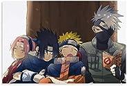 Sibyhoty Naruto Equipo Kakashi Anime Lienzo Arte Cartel Sala de Estar Oficina hogar decoración de Pared Pintur