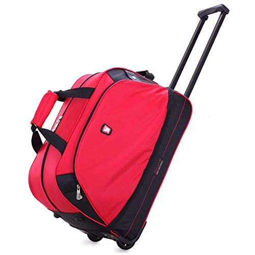 OIWAS Small Rolling Duffle Bag Carry On with Wheels Luggage Suitcase Men Women Tote Travel Short Term Trips Expandable…