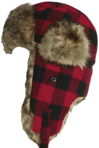 Klondike Sterling Youth Plaid Trooper Hat Child Winter Wool Blend ... aea3877478c