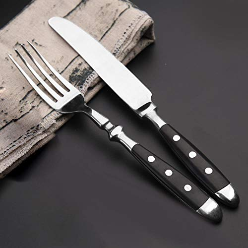 Stainless steel Western tableware set steak knife and fork two sets of bakelite black handle, Black handle knife and fork two-piece set