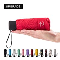 NOOFORMER Mini Travel Sun&rain Umbrella (6&8 Rids)- Light Compact Parasol with 95% UV Protection for Men Women Multiple Colors