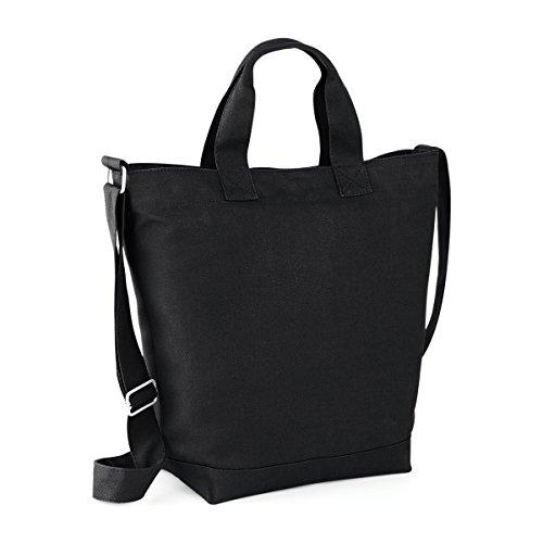 BagBase Tasche Damen Hand Leinwand Tag Tasche 38x40x14cm 15L Freizeit black WtMSV6mkUV