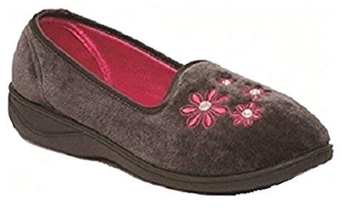 Koo-T - Zapatillas de estar por casa de Material Sintético para mujer Donna Charcoal