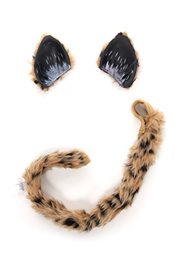 Elope Cheetah Cat Costume Headband Ears and Tail for Women]()