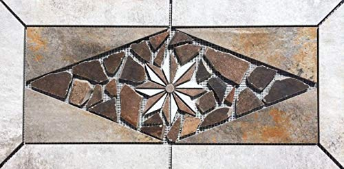 "22 1/4"" X 11"" Tile Medallion - Daltile Cotto Contempo porcelain tile series"