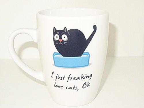 Funny Cat Mug, Coffee Cup Funny Mug tea Birthday Cat Love...
