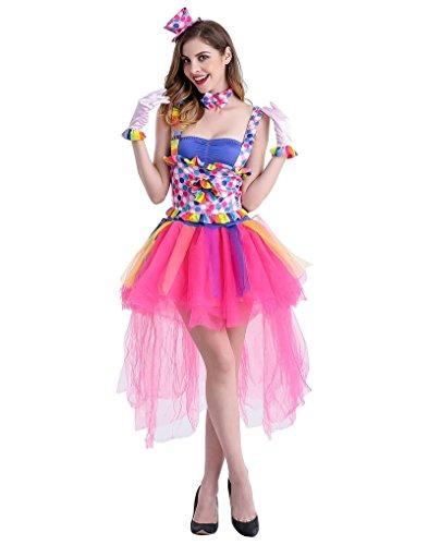 [Weimisi Womens Ravishing Ring Master Circus Costume] (Cute Female Clown Costumes)