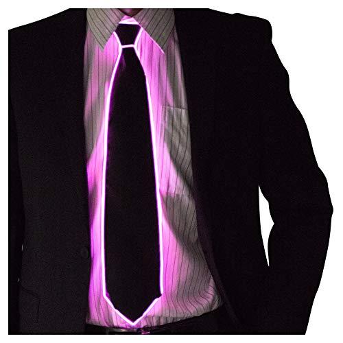 Neon Nightlife Light Up Neck Tie for Men, Pink ()