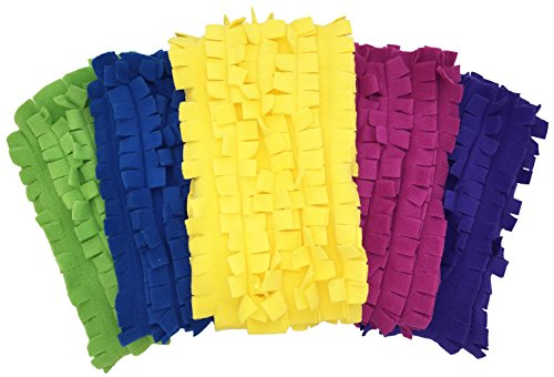 (Xanitize Fleece XL Sweeper Mop Refills for Swiffer X-Large - Reusable, Dry Duster, for Hardwoods, Laminates - 5-Pack Rainbow II)
