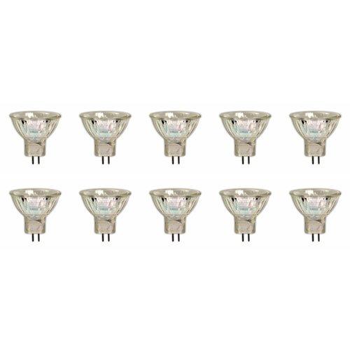 10 x GU4 Ampoule Halogène Dichroïque MR11, 12V, 35W, 35mm