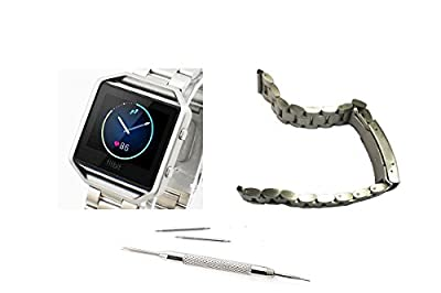 Yavive - Fitbit Blaze Accessory Band, Leather/Stainless Steel Metal /Milanese Magnet Loop, Silver/Gold/Rose gold/black, Elegant,Standard(No Tracker, Only Bands)