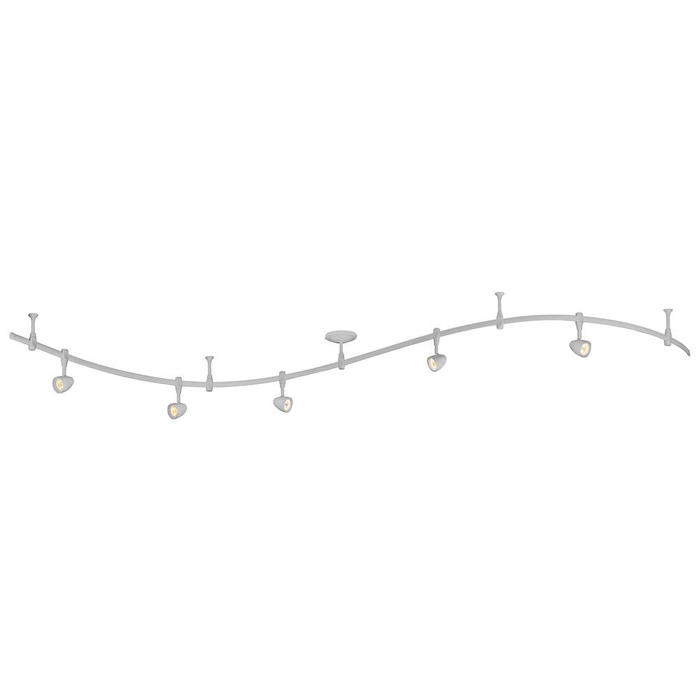 Silver 5-Light Integrated LED Flex Track Lighting Kit - - Amazon.com