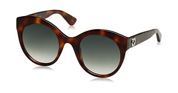 Amazon.com: Gucci mujer gg0029s GG/0029/S 002 marrón habana ...