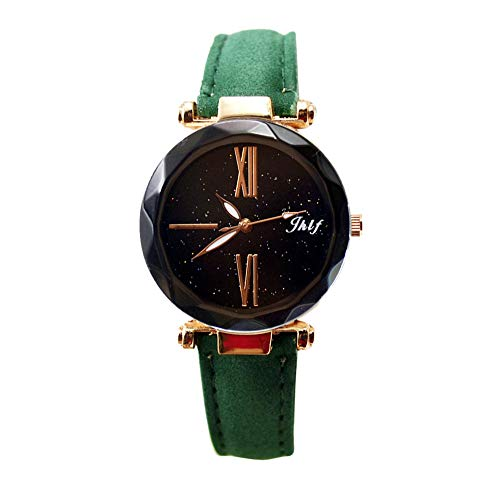 Pocciol 2019 Luxury Watch Womens Casual Watch with Leather Strap Band Analog Quartz Starry Sky Wristwatch for Ladies (Green) by Pocciol Cheap-Nice Watch (Image #5)
