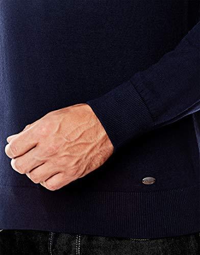 Tricoté L'hiver Manche Encolure Uni 2 Chaud Et Coupe bleu L'automne longue over Vincenzo Pull Foncé Classique En Pour Étroite Homme Chic V Boretti TxAzPqHt
