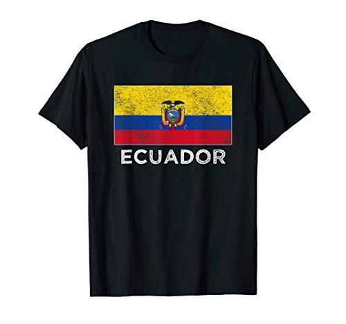 - Ecuador National flag distressed t-shirt for men women kids