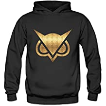 ITMEIAL Women's Vanoss Gaming Gold Owl Fleece Hoodie Black XXL
