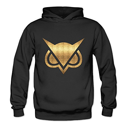 Price comparison product image ITMEIAL Women's Vanoss Gaming Gold Owl Fleece Hoodie Black XXL