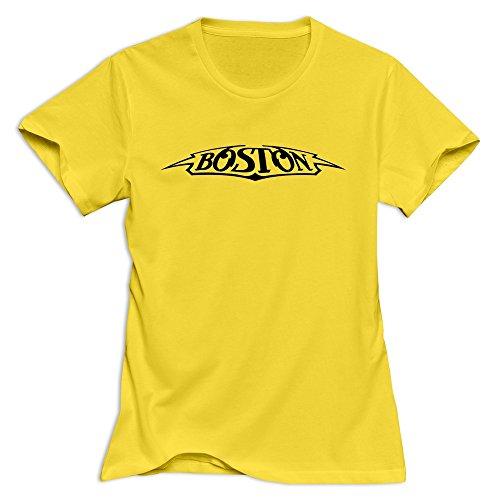 (Boston Band Fun Casual Yellow Tshirt For Women Size XL)