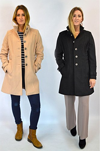 Or Ladies EX Tailored Collared Black Black Beige Winter Wallis Coat in AgqUBgnw