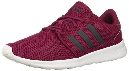 adidas Women's QT Racer Running Shoe, Mystery Ruby/Carbon, 5.5 M US