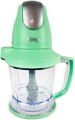 Ninja Storm Master Prep Food Processor Blender Powerful One Touch 450W Motor Pod BPA-Free Pitcher Dishwasher Safe QB751Q Renewed Mint