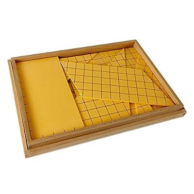 Montessori Yellow Triangles for Area: Toys & Games