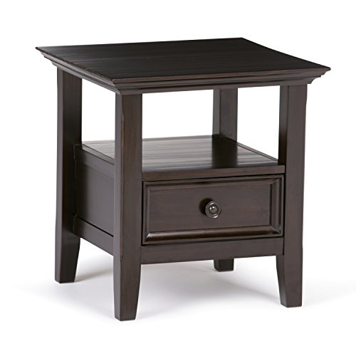 Simpli Home Amherst End Side Table, Dark Brown by Simpli Home