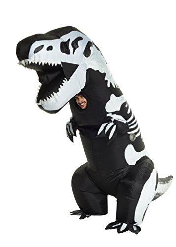 Morph Men's Giant Skeleton T-rex Inflatable Costume, Adults]()