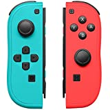 Joy-Con Controller Replacement for Nintendo Switch Left and Right Controllers with Straps Support Wake-up Function (Blue and Red)