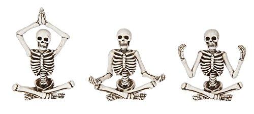 Ganz Zen Skeleton Figurines in Various Meditation Poses (Meditation A)