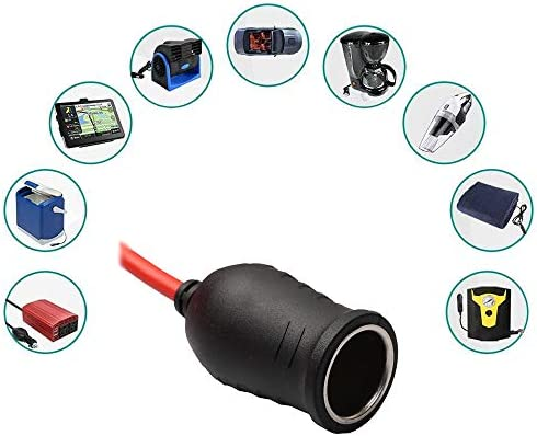 3,6m - Fusible 15A 250V Digit.Tail Cable alargador para Encendedor de Cigarrillo de Coche, macho a hembra Mechero Conector Enchufe para 220V Convertidor Transformador 12V 24V Refrigerador//Compresor