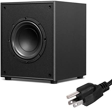 Sonart Active Subwoofer W Front-Firing Woofer for Surround Sound HD Home Theater Music, Black 8 200W