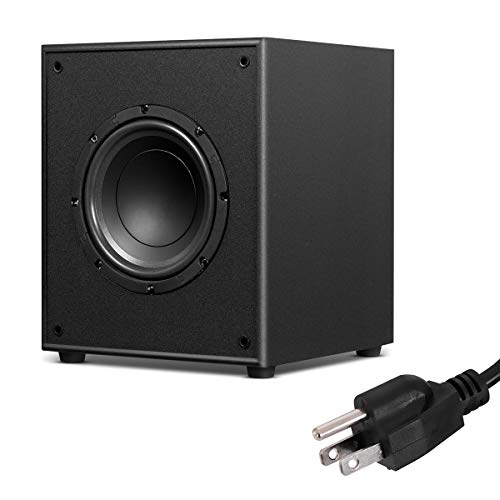 Sonart Active Subwoofer W/Front-Firing Woofer for Surround Sound HD Home Theater Music, Black (8″ 200W)