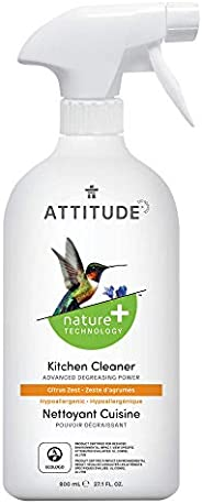ATTITUDE Efficient Kitchen Multi-Purpose Cleaner, Degreaser Power, Citrus Zest, 800 mL