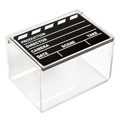 Polaroid Clear Acrylic Movie Clapboard Photo Storage Box for Zink 2x3 Photo Paper (Snap, Zip, Z2300) from Polaroid