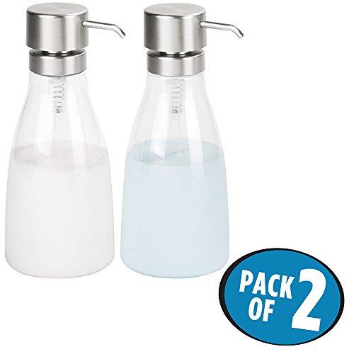 mDesign Modern Dispenser Shampoo Conditioner