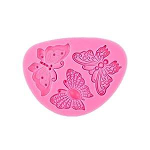 Hosaire - Stampo in silicone per torte e biscotti, per cioccolato, fondente, 3D, a forma di pizzo, farfalla, per… 11 spesavip