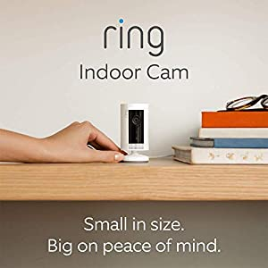 Introducing Ring Indoor Cam | Compact Plug-In HD security camera with Two-Way Talk, white, Works with Alexa