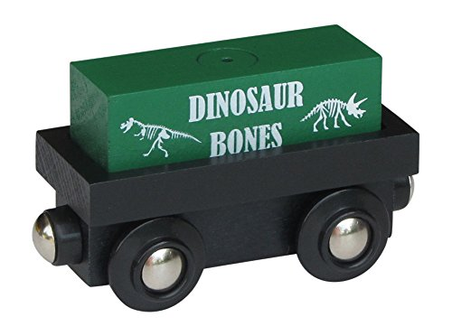 Choo Choo Track & Toy Co. Cargo Car with removable Dinosaur Bones magnetic cargo wooden train
