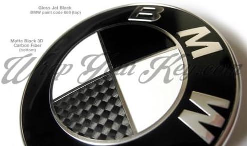E92 3er Carbon Silber oder Schwarz Emblem Aufkleber Ecken für BMW E91 3er