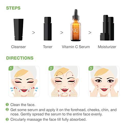 41b8Jlj4h%2BL - 30% Vitamin C Serum for Face,Hyaluronic Acid & Vitamin E - Natural & Organic Anti Wrinkle Whitening Vitamin C Serum for All Skin - Anti Aging Serum-1 fl oz.