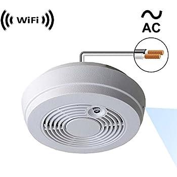 Amazon.com : PalmVID WiFi Smoke Detector Hidden Camera Spy ...