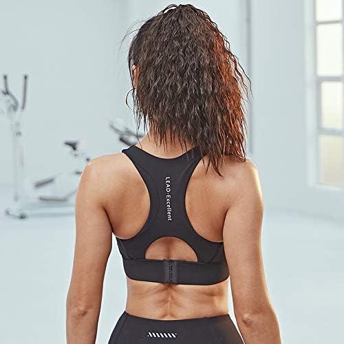 ZHANGHA 耐震性のスポーツ下着の女性は、バックベストフィットネススポーツブラヨガアメリカを実行している高輝度を集めます ZHANGHA (Color : Starry black, Size : S)